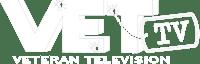 VET Television logo blank back white
